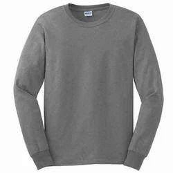 Mens Grey Long Sleeve T Shirt