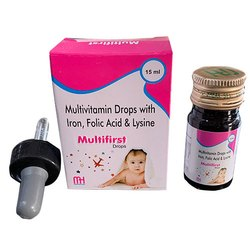 Multivitamin Drops With Iron Folic Acid and Lysine