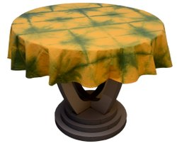 Handmade Round Table Covers Shibori Tie Dye Table Cloths Size 60 Inches