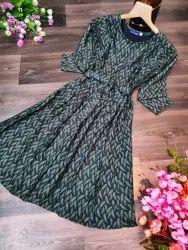 Rayon Semi-Formal Ladies Western Wear