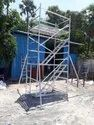 Aluminum Double Width Two Staircase Scaffold Ladder