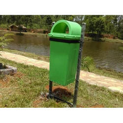 Green Road Side Dustbin
