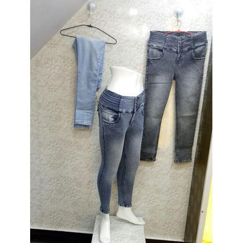 Stretchable Regular Fit Ladies Casual Denim Jeans, Size: 30