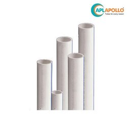 White APL APOLLO uPVC Plumbing Pipe Threaded 6 Meter, Size/Diameter: 1/2-4 Inch