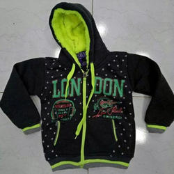 Printed Kids Hood Winter Wear Zip Jacket