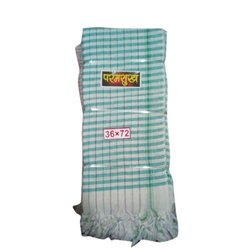 Paramshukh Designer Check Cotton Gamcha, 250-350 GSM, Size: 36 X 72 Inch