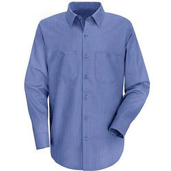 Blue Full Sleeve Formal Shirt, Size: 44