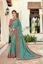 Indian Women Green Saree