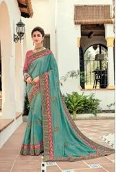 Indian Women Green Saree