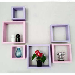 Pink Purple Floating Wall Mounted Shelves