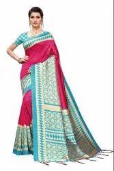 Banarasi Art Silk Party Wear Rama Saree Blouse Piece