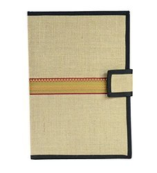 Brown And Black Jute File Folder, Size: 14x10 Inch