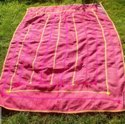 Pink And Yellow Vintage Kantha Quilt