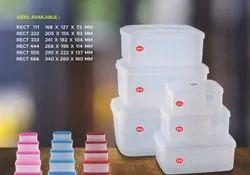 Grace White Plastic Ice Cream Storage Box