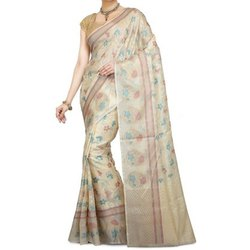 Mahavastra, Fworld Wedding, Party Wear Tussar Silk Saree, 5.5 m (separate blouse piece), With Blouse Piece