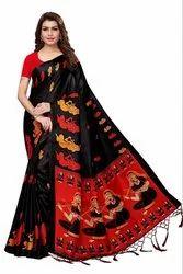 Khadi Silk Saree With Blouse
