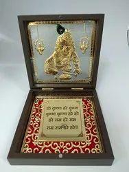 Bal Krishna Gold Plated Photo Frame Box