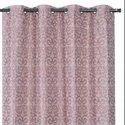 52x84 inch Motif Pink Linen Curtain