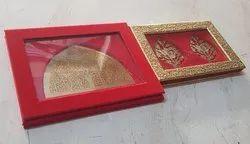 Red Rectangular Velvet Jewellery Box, Size/Dimension: 10x10x1 Inch