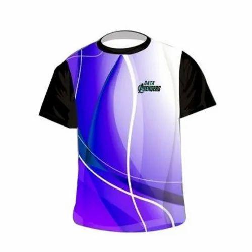 Multicolor S-xxl Sublimation Round Neck T-Shirt