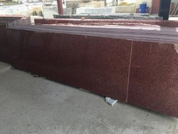 Stone Big Slab Red Granite, Thickness: 15-20 Mm
