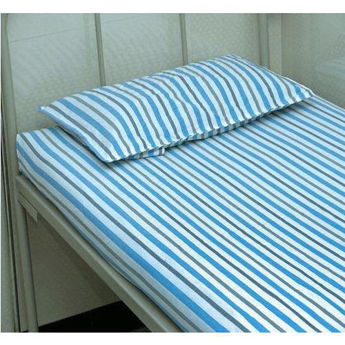 Cotton Hospital Bed Sheets With Pillow Cover Set Size 6 X 4 Feet