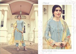 Sahiba Embroidery Digital Prints Cotton Suit Fabric