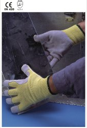 GRC 10/O Para-aramid Seamless Knitted Gloves