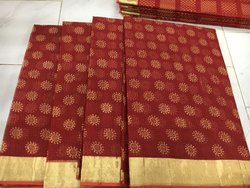 Kota Doria Bandhani Print Saree