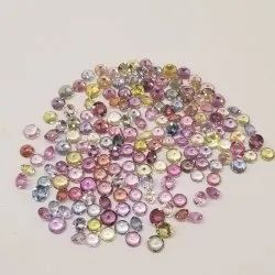 Natural Multi Sapphire Faceted Round Loose Gemstone