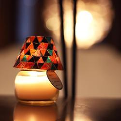 Mosaic Lamp Scented Candle