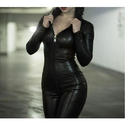Faux Leather Catsuit