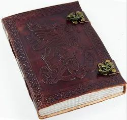 Fighting Griffin Leather Journal With Double Latch
