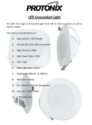 Round Concealed Light