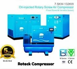 60 HP Direct Driven Screw Air Compressor With Air Dryer