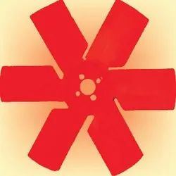 Red ABS Plastic Fan Blade, Blade Size: 4-5 inch