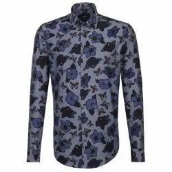 Mens Floral Print Full Sleeve Shirt