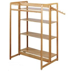 Wooden Garment Display Rack
