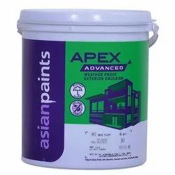 White Asian Apex Advanced Weatherproof Exterior Emulsion Paint, Packaging Size: 20 Liter
