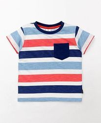 Boy Hosiery And Cotton Stripes Tee For S, Size: 3-5 Years And 5-7 Years