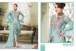 Shree Fab Ramsha Embroidered Collection Series 8121-8127 Georgette Suit