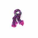 粉红色印有1.8米抽象围巾,宽度:0.5米