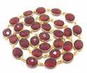 Lavender Gemstone Bezel Chain