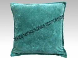 Plain Green Velvet Cushion