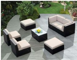 Multi Colour Outdoor Wicker Sofa Set