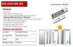 Stainless Steel EM Lock 600 LBS EML-600, 10 - 20, Digital Keypad