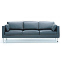 Straight Leather Sofa