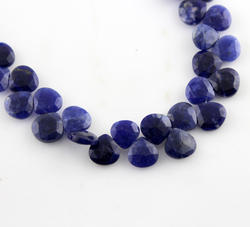Sodalite Heart Shape Briolette Layout Faceted Beads