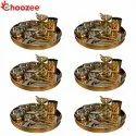 Choozee - Copper Thali Set of 6 (72 Pcs) Thali, Bowl, Spoon,Glass, Ice-Cream Cup, Knife