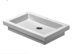 White 2nd Floor Washbowl, Model No.: 031758, Size: 580 Mm